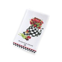 Mackenzie Childs Tulip Tea Kettle Tea Dish Towel