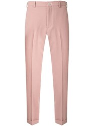 Loveless Cropped Chinos Pink