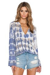 Blue Life Hayley Long Sleeve Top Blue