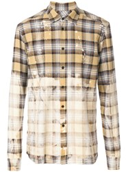Faith Connexion Faded Plaid Shirt Unisex Cotton L