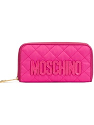 Moschino Quilted Wallet Pink And Purple