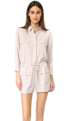 Young Fabulous And Broke Yfb Clothing Leone Romper Soft Grey