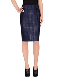 Marco De Vincenzo Skirts Knee Length Skirts Women Dark Blue