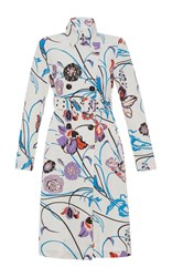 Emilio Pucci Belted Trench Coat Print
