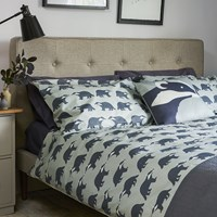 Anorak Kissing Badgers Reversible Duvet Set Grey
