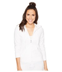 Juicy Couture Robertson Microterry Jacket White Women's Coat