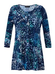 Grace Made In Britain Print Tunic Blue