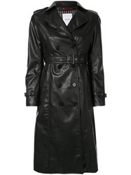 Loveless Belted Trench Coat Black