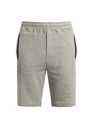 Hamilton And Hare Cotton Blend Jersey Shorts Grey