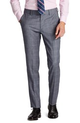Bonobos Men's Big And Tall Jetsetter Flat Front Stretch Plaid Wool Trousers Grey Plaid