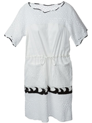 Tsumori Chisato Perforated Design Dress White