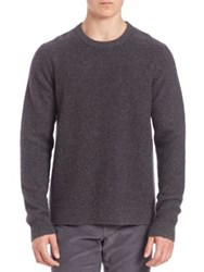Vince Heathered Cashmere Sweater Heather Carbon