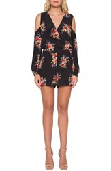 Willow And Clay Women's Floral Cold Shoulder Romper