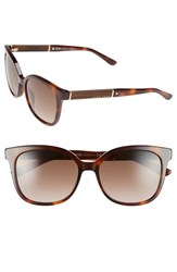 Women's Boss 54Mm Cat Eye Sunglasses Havana Light Brown