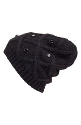 Halogenr Women's Halogen Embellished Knit Beanie Black Black Combo