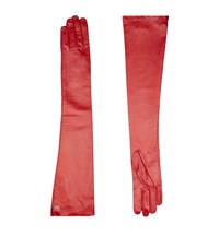 Lilly E Violetta Leather Gloves Red