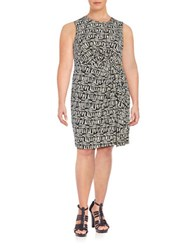 Calvin Klein Plus Printed Knit Dress Latte Multi