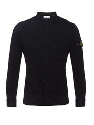 Stone Island Long Sleeved Cotton Jersey Shirt Black