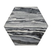 Bloomingville Hexagonal Grey Marble Cutting Board