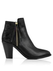Kanna Siena Zip Up Ankle Boots Black