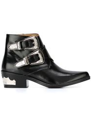 Toga Buckled Ankle Boots Black