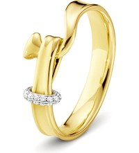 Georg Jensen Torun 18Ct Yellow Gold And Diamond Ring