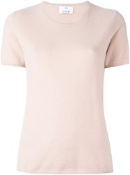 Allude Shortsleeved Knit Blouse Pink Purple