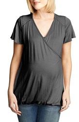 Women's Maternal America Flutter Sleeve Nursing Top