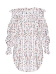 Athena Procopiou Wind Winged Dove Cotton Dress White Multi