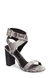 Charles By Charles David Women's Eddie Sandal Roccia Snake Print Leather