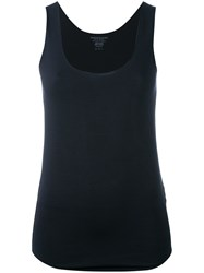 Majestic Filatures Fitted Tank Top Blue