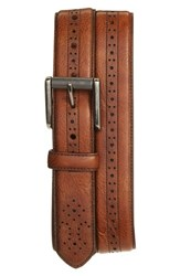 Men's 1901 Perforated Roller Buckle Leather Belt