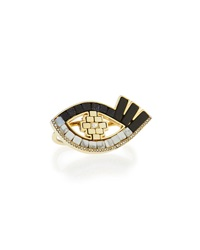 Lumen Mosaic Eye Two Finger Ring Lulu Frost