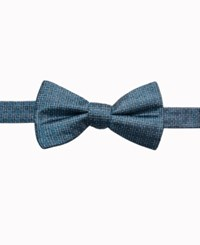 Ryan Seacrest Distinction Men's Cambria Neat Pre Tied Silk Bow Tie Created For Macy's Teal