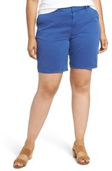 Sejour Plus Size Women's Bermuda Shorts Blue Mazarine