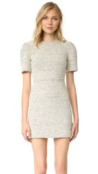 Alice Olivia Genny Pouf Sleeve Dress Cream Multi