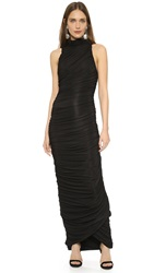 Balmain Sleeveless Column Dress Black