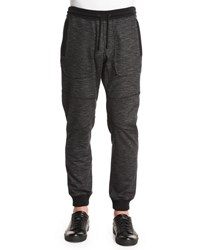 Belstaff Marled Fleece Sweatpants Black