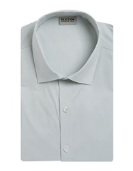 Kenneth Cole Reaction Slim Fit Solid Dress Shirt Silver Sage