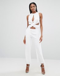 Aq Aq Cut Out Longline Top White