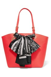 Dkny Bow Embellished Leather Tote Coral