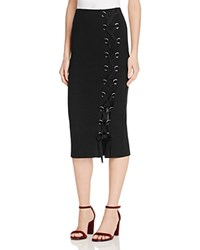French Connection Tommy Ribbed Skirt Black