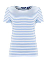 Gant Short Sleeve Striped T Shirt Lavender