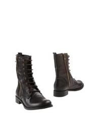 Scoop Ankle Boots Dark Brown