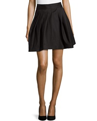 Halston Heritage Pleated Bell Skirt Black