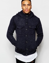 Ringspun Double Pocket Hoodie Cardigan Navy