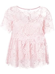 P.A.R.O.S.H. Rift Lace Blouse Pink Purple
