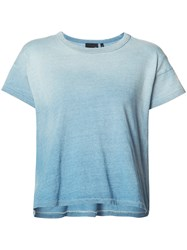 Ag Jeans Round Neck T Shirt Blue