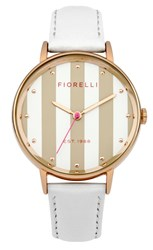 Fiorelli Ladies White Leather Strap Watch