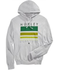 Hurley Men's Step Above Graphic Print Hoodie Grey